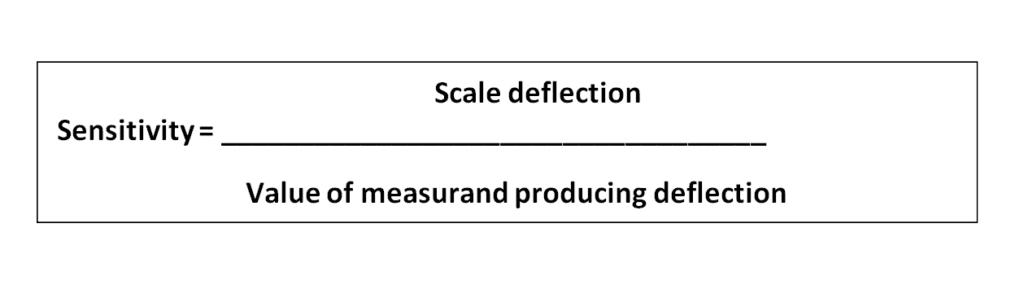 Instrument Sensitivity