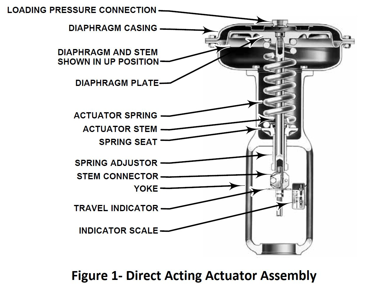 Direct actuator assembely