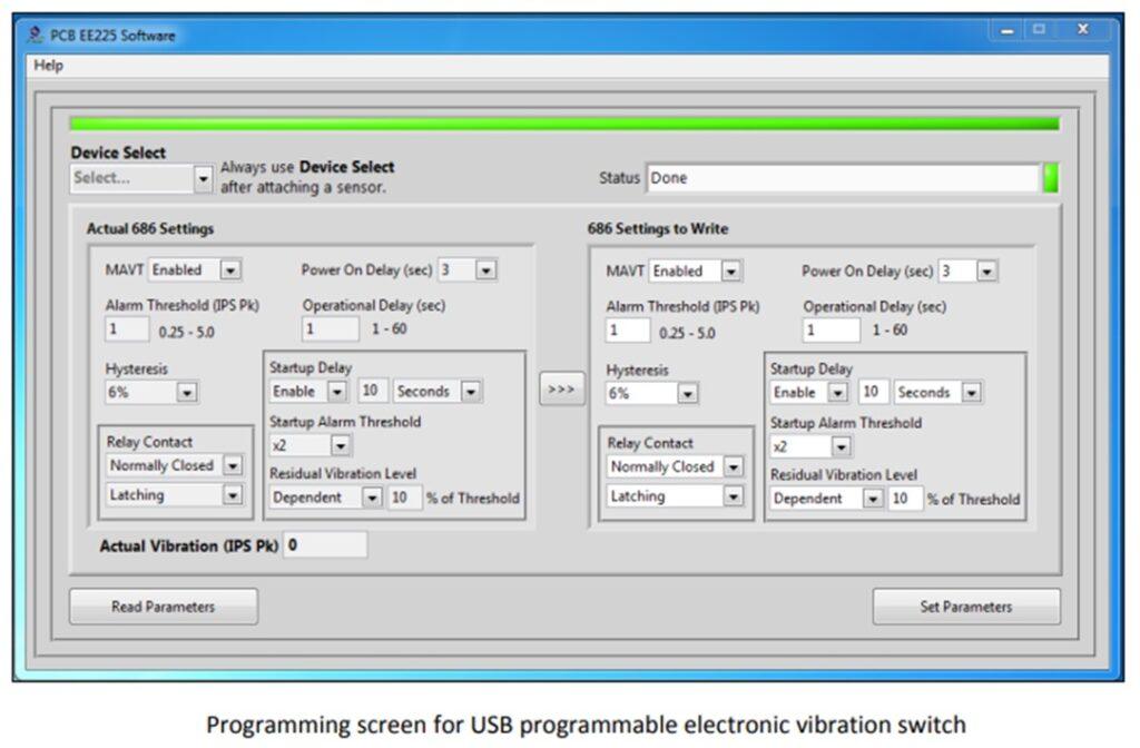 programable vibration switch screen