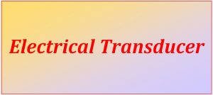 electrical transducer_