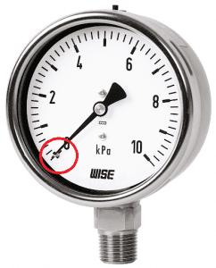 pressure gauge zero indication