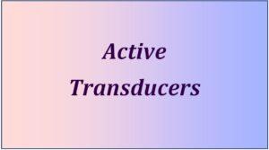 Active-Tranducer